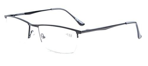 Eyekepper QualitätHalbrand Lesebrille mit Federscharniere inSchwarz+0.75, Schwarz