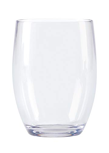 G.E.T. Heavy-Duty Reusable Shatterproof Gl Wine Stemless Cash special Max 46% OFF price Plastic