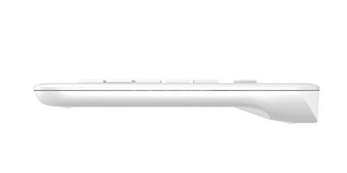 Logitech K400 Plus Kabellose TV-Tastatur mit Touchpad, 2.4 GHz Verbindung via Unifying USB-Empfänger, Programmierbare Multimedia-Tasten, Windows/Android/ChromeOS, Englisches QWERTY-Layout - weiß