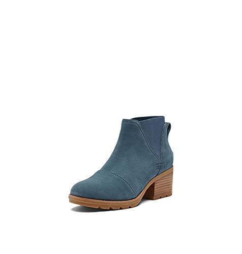 SOREL Women's Cate Chelsea Bootie — Uniform Blue, Gum 2 — Waterproof Leather Rain Boot — Size 10.5