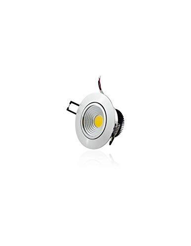 Plafonnier Aluminium Encastrable LED 5W COB - Eclairage 40W Blanc Chaud 2700K