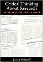 Critical Thinking About Research (text only) 1st (First) edition by J. Meltzoff