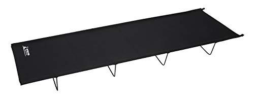 キャプテンスタッグ(CAPTAIN STAG) アウトドアベッド ベッド コット ロースタイルコンパクトベッド 収納バッグ付き ブラック グラシア