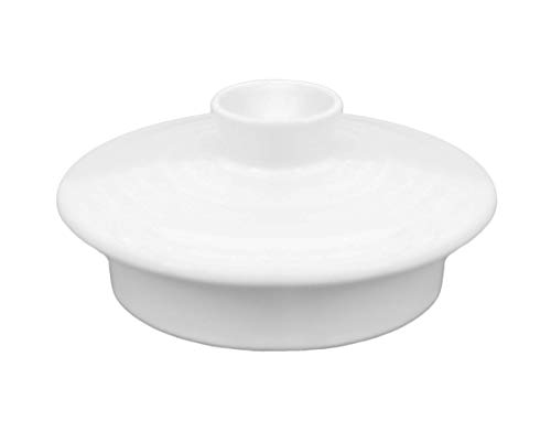 Aricola Ersatzdeckel für Teekanne Nelly in Weiß aus hitzebeständiger Keramik.