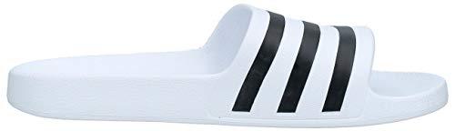Adidas Adilette Aqua, Unisex Adults' Low-Top Slippers Beach & Pool Shoes, White (Ftwr White/Core Black/Ftwr White Ftwr White/Core Black/Ftwr White), 10 UK (44.5 EU)