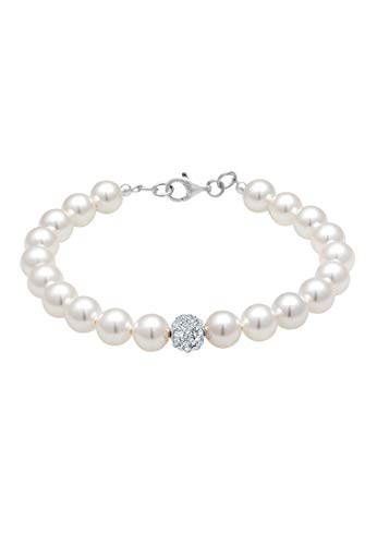 Elli Armband PERLU Damen Armband Perlen mit Swarovski Kristallen in 925 Sterling Silber
