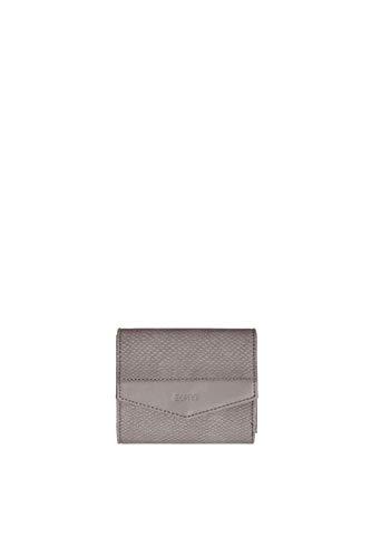 Esprit Accessoires Damen Tasha City Wllt Geldbörse, Grau (Grey), 2,5x9,5x12 cm