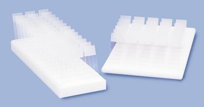 VWR 82024-526 Slide Holders, 40 Slide, 30 cm Width, 10.5 cm Length, 2.5 cm Height, Polypropylene (Pack of 1)