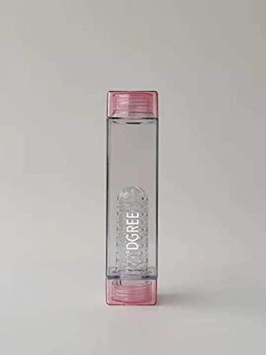 Botella rectangular 777°DGREEE (rosa)