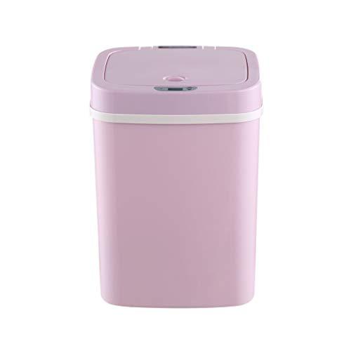 XINF Intelligente Sensor Prullenbak Huishoudelijke Automatische Flip Deodorant Roze 12 Liter Baby Luier Verwerking Emmer Recycling bin prullenbak recycling bin opslag bak