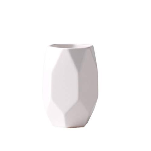 Cabilock Keramik Bad Becher Tasse Zahnbürste Tasse Make-Up Bürsten Halter Ständer Mehrzweck Tasse Veranstalter für Bad Küche Schlafzimmer Weiß
