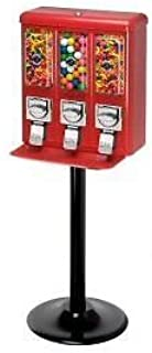 Triple Shop Gumball and Candy Machine RED