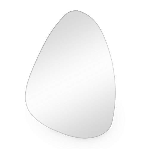PHOTOLINI Spiegel ohne Rahmen 50x70 cm Nierenform | Deko Wand-Spiegel Retro