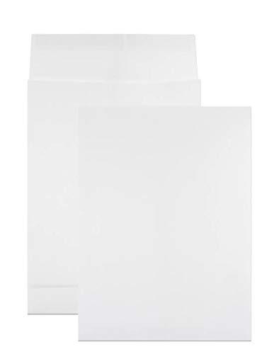 50 x weiße Faltentaschen DIN B4 250× 353 mm 130g Kapazität-Versandtaschen haftklebend ohne Fenster Falten-Umschläge Briefumschläge B4 mit Bodenfalte Brief-Kuverts mit Falten große Umschlagtaschen