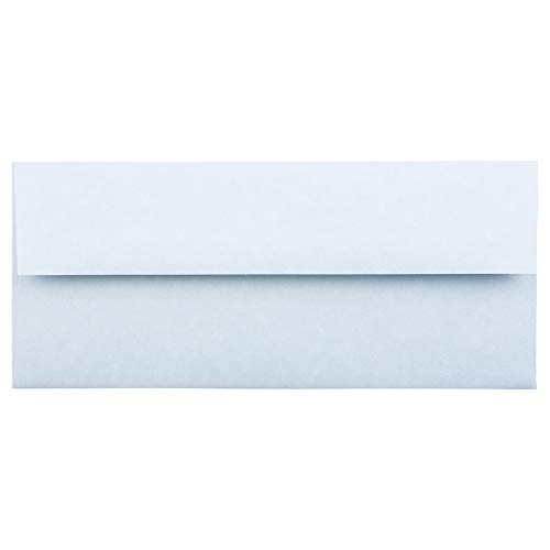 JAM PAPER #10 Business Parchment Envelopes - 4 1/8 x 9 1/2 - Blue Recycled - 50/Pack