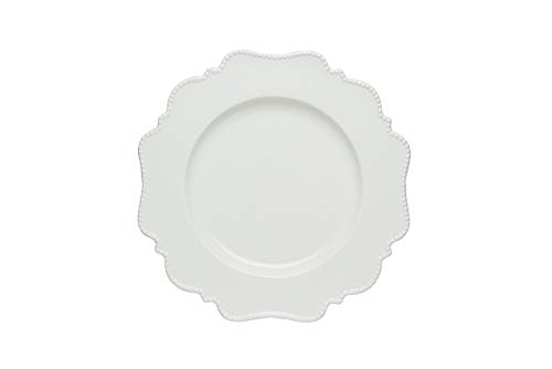 Red Vanilla Pinpoint White Salad Plate 8', Set of 6, 1, None