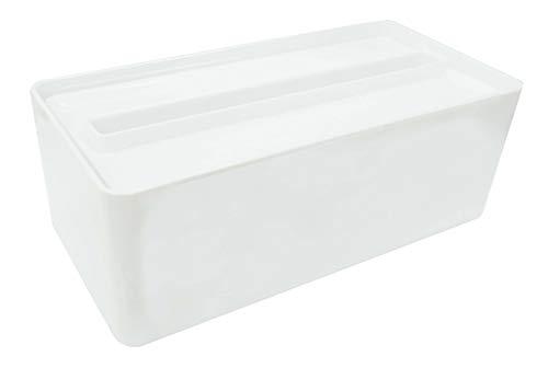 オーエ ペーパータオルケース ホワイト 縦26.5×横12.5×高さ9.5cm ティッシュケース 取り出しやすい スッキリおさまる 日本製