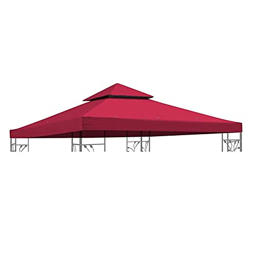 LKOPYUo 10Ft Garden Gazebo Top Cover, Outdoor Gazebo Tent Roof Top, Waterproof Sunshade Pavilion Replacement Cover, for Patio BBQ,Garden,Party Canopy Barbecue Tent Roof (Color : Milky white)
