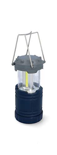 Cartrend 10688 COB Led-campinglamp, uittrekbaar, werkt op batterijen, noodlamp, lantaarn, lamp voor stroomuitval, wandelen, uitval, noodgevallen