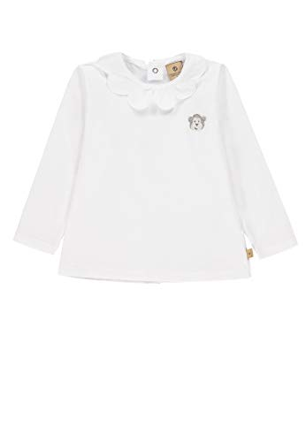 Bellybutton mother nature & me Baby-Mädchen 1/1 Arm T-Shirt, Weiß (Bright White|White 1000), 56