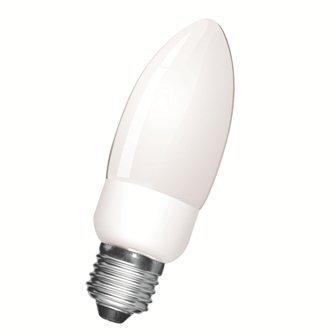 Energiespaarlamp met grote kaars, 9 W, E27, warmwit, 2700 K