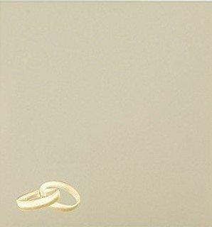 25 sobres con anillos de oro de Briefumschläge24Plus, 15x 15cm 150x 150mm. Crema. Cierre: adhesivo. Gramaje: 120g/m².