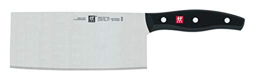 ZWILLING Chinesisches Kochmesser, Klingenlänge: 18,5 cm, Großes Klingenblatt, Rostfreier Spezialstahl/Kunststoff-Griff, Twin Pollux