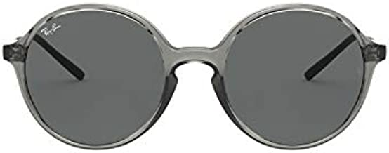 Ray-Ban Unisex-Adult RB4304 Youngster Sunglasses, Transparent Grey/Dark Grey, 53 mm