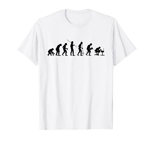 Evolucion del mono al programador, para informatico Camiseta