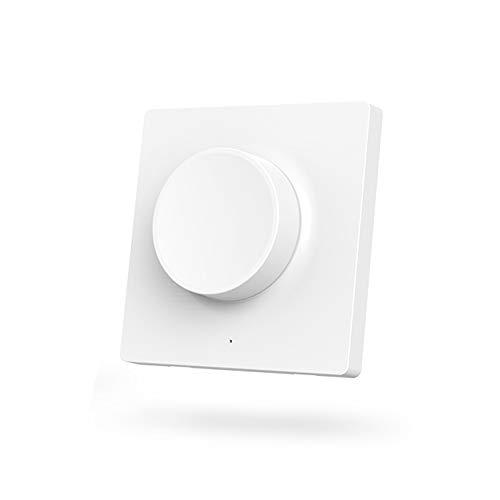 Interruptor de luz LED inteligente de Yeelight, control remoto inalámbrico de luz de techo Bluetooth 5 en 1 (Interruptor de versión de pegado)