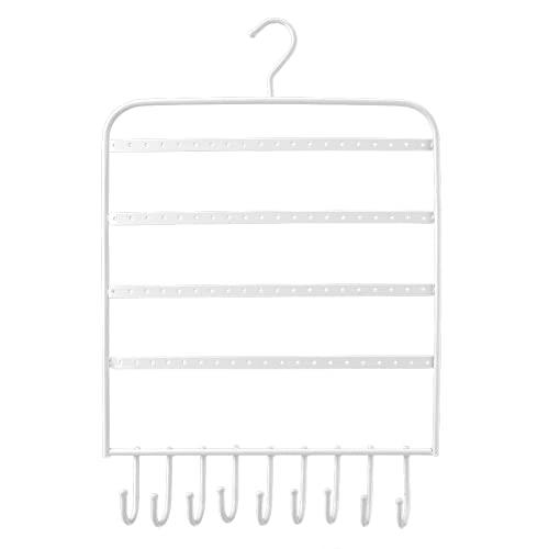 BOLORAMO Estante, Práctico Y Duradero Estante De Joyería Curvado En Forma De Gancho De Hierro para Decoración De Exhibición para Organizar Aretes(Blanco)