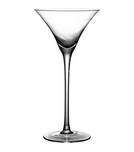 DDTT Juego de 6 Vasos de Martini, Copa de cóctel de Martini de Cristal Transparente sin Plomo de 140 ml, hogar, restaurantes y Fiestas