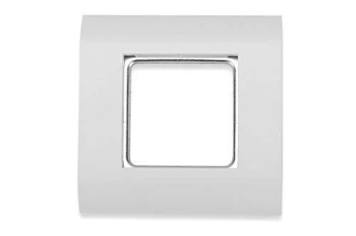 DIGITUS Anschlussdose Für Keystone-Modul - Rahmen 80 x 80 mm - Französisches Layout - Weiß