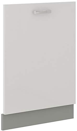 Frontblende Geschirrspüler vollintegriert 60 cm Weiß Hochglanz Küche Bianca Grey