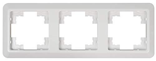 MC POWER - 3-fach Rahmen | CUP | weiß, poliert