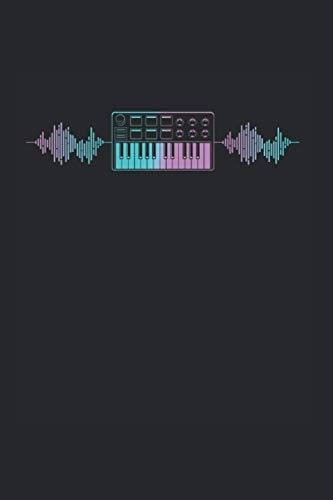 Notebook: Retro Synthesizer Keyboard Electro Music Producer Notebook 6x9 Inches 120 dotted pages for notes, drawings, formulas   Organizer writing book planner diary