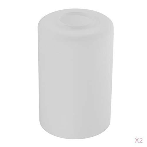 Tubayia 2 Stück Glas Zylinder Lampenschirm für Pendelleuchte, Deckenleuchte, Hängelampe