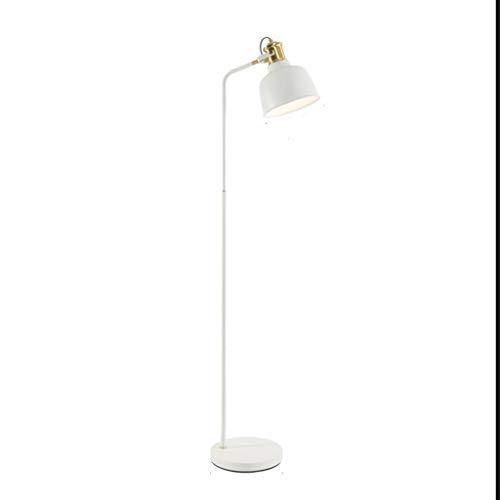 LY88 Light Vloerlamp voor Woonkamer Industrieel Groen Wit Metaal Leeslamp Moderne Slaapkamer Décor 0612P Kleur: Wit