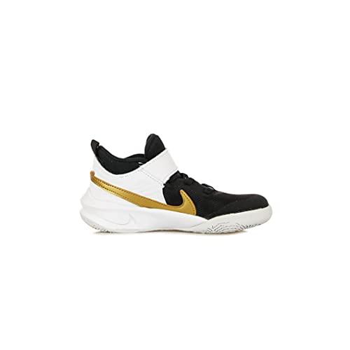 Nike Team Hustle D 10 GS, Zapatillas Deportivas, Black Mtlc Gold White Photon Dust, 39 EU