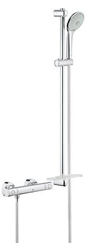 Grohe Grohtherm 1000 - Conjunto de ducha termostático Mezclador de ducha termostático color cromo Con juego de ducha, 900mm Ref. 34321002