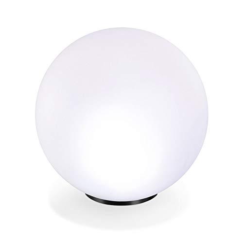 Solar Leuchtkugel 40cm 7 Lichtfarben Dauerlicht oder Wechsellicht 8 Std. Leuchtdauer Solarleuchte esotec 102611
