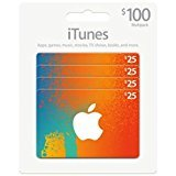 iTunes Gift Card $100 (4 X $25) by GizPromo