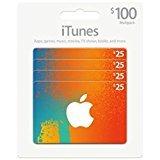 Carte cadeau iTunes 100$ (4 X 25$) par GizPromo