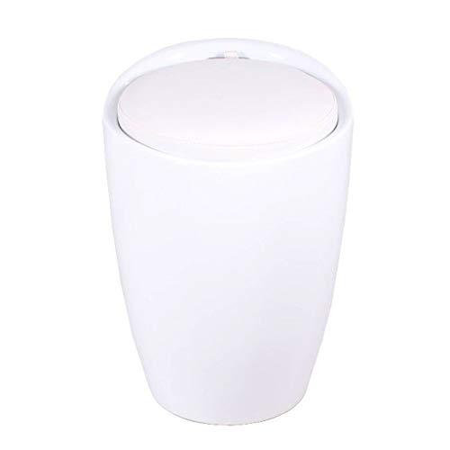 Taburete pequeño para té con reposapiés Taburete para almacenaje Reposapiés for ahorrar espacio de almacenamiento plegable asiento tapizado Cubo resto del pie heces caja escabel Cambio de zapatos Banq