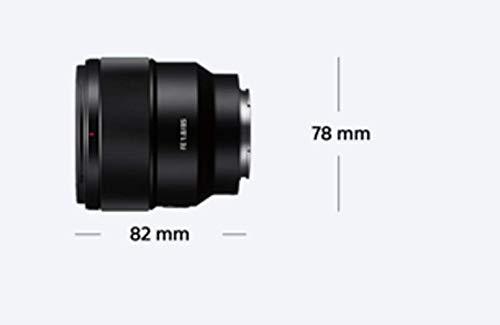 Sony SEL85F18 85mm F/1.8-22 Medium-Telephoto Fixed Prime Camera Lens, Black