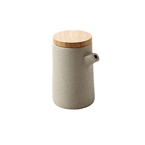Vinagre de cerámica porcelana anti-goteo oliva oliva salsa de soja vinagre botella condimento salsa barcos cocina cocina herramientas de almacenamiento botellas de almacenamiento 300 ml ( Color : B )