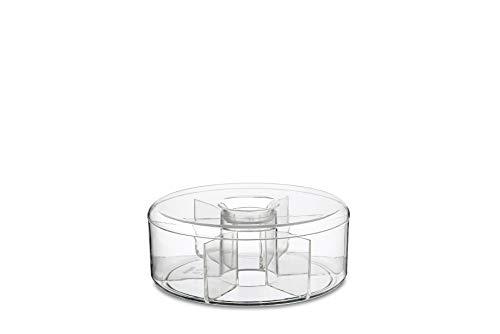 Runde Teeaufbewahrungsbox aus Kunststoff