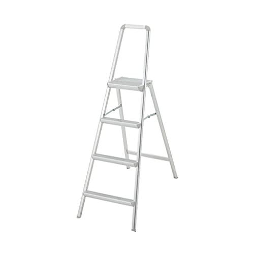YHYH 2 3 4 Step Scaletta Scheda Portatile Stepladder con Design del Corrimano di Sicurezza Sgabello Pieghevole in Alluminio Leggero (Color : 4 Step Ladder)
