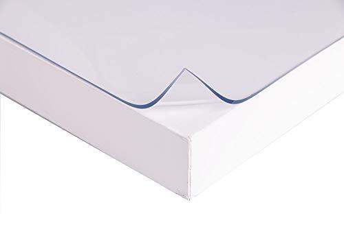Tischschutz Folie Folienschutz Tischbedeckung Farblos Transparent Schutzmatte Tischdecke MASTER (Breite: 90cm, Länge: 160cm)