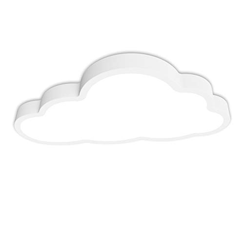 36W Lámpara de techo, Luz de techo LED, 6000K Luz blanco frío, Forma de nube 5cm de espesor Plafón, Lámpara de habitación infantil, lámpara de dormitorio, guardería, salón Iluminación